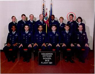 Mike with his Air Force class